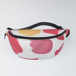 37  | 190408 Red Abstract Watercolour Fanny Pack