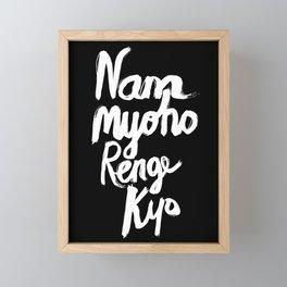 Nam Myoho Renge Kyo - Light on Dark Framed Mini Art Print