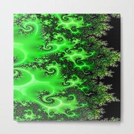Green Lace Metal Print