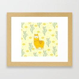 Alpaca summer Framed Art Print