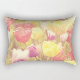 life isn't a tiptoe through the tulips ... Rectangular Pillow