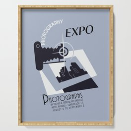 Retro photography expo Serving Tray