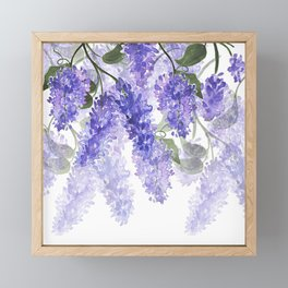 Purple Wisteria Flowers Framed Mini Art Print