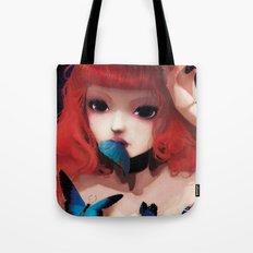 Chew my blue... Tote Bag