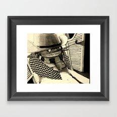 Mighty Manfred in Shanghai Saloon Framed Art Print