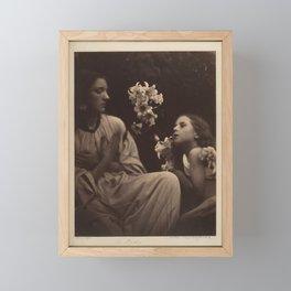 A Study by Julia Margaret Cameron, 1865 Framed Mini Art Print