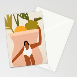 Woman on Vase Stationery Cards