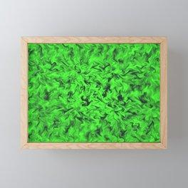Fiery Green Framed Mini Art Print