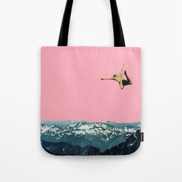 Higher Than Mountains Tote Bag