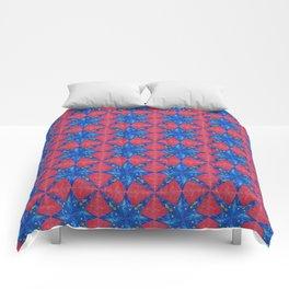 stelle blu su fondo rosso Comforters