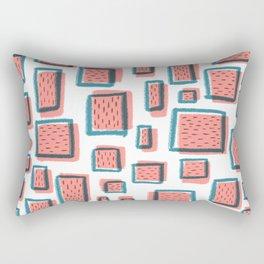 funny square Rectangular Pillow