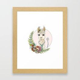 Healthcare Llama Framed Art Print