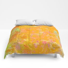 Delight, Marbled Abstract Art Painting Comforters