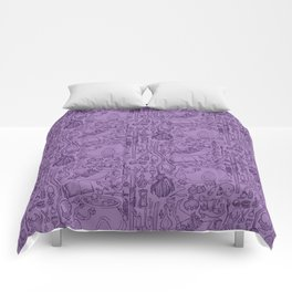 Witches Cupboard Purple Comforters