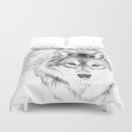 WOLF WHITE Duvet Cover