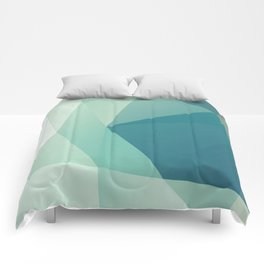 Lagoon – modern polygram illustration Comforters