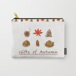 Gift of autumn watercolor painting Carry-All Pouch