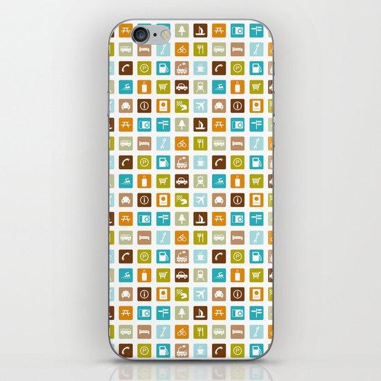 Travel Icons iPhone & iPod Skin