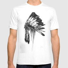 Native Living Mens Fitted Tee White MEDIUM