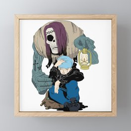 Cool Character for Sticker and Shirt Framed Mini Art Print