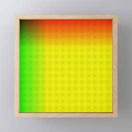 Green Yellow Red and Black Ombre Circle Grid Framed Mini Art Print