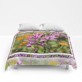 PASTEL PURPLE FLOWER  Comforters