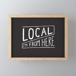 Local Framed Mini Art Print