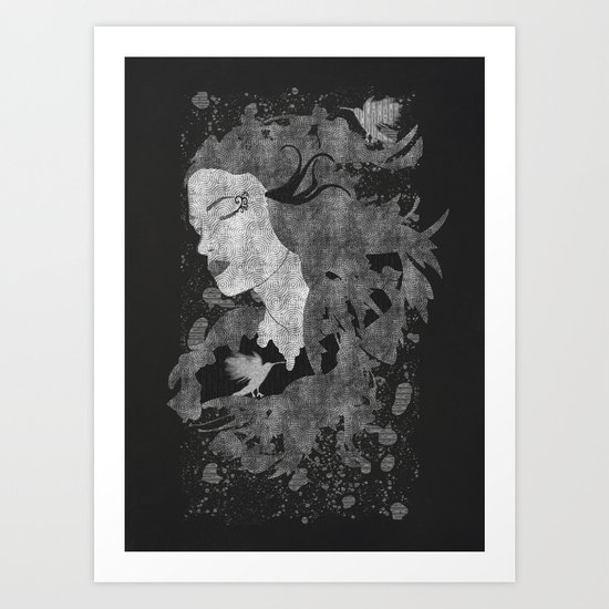 Cosmic dreams (B&W) Art Print