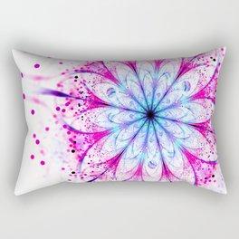Winter Pink glittered Snowflake Rectangular Pillow