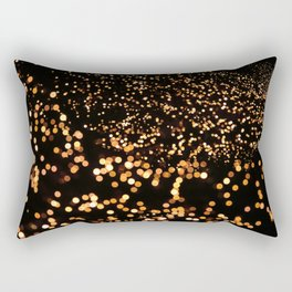 City Tree Lights, Bokeh Exposure, George's Dock, Dublin, Ireland Rectangular Pillow