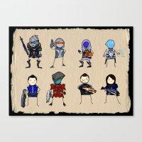 Mass Effect 3 Normandy Crew Canvas Print