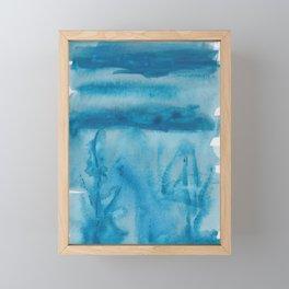 38  |  190408 Blue Abstract Watercolour Framed Mini Art Print