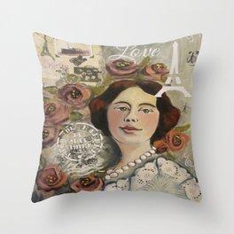 Roseline Throw Pillow