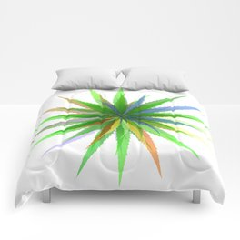 leaves of grass Comforters