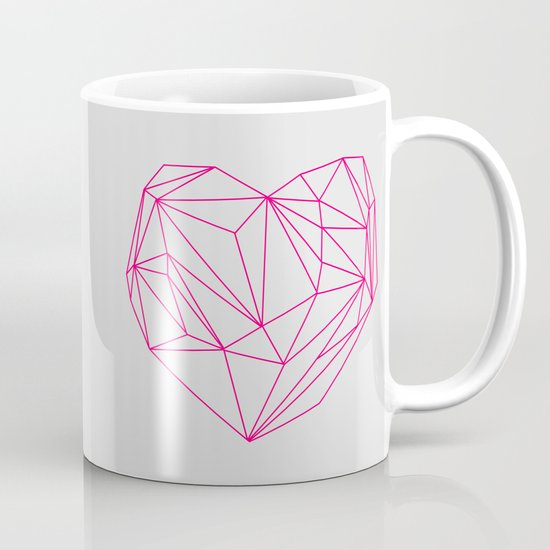 Heart Graphic Neon Version Mug