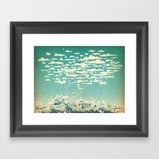 Where The Clouds Are Born Framed Art Print