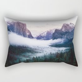 Misty Tunnel View - Yosemite National Park, CA Rectangular Pillow