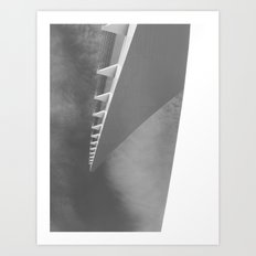 Places in Black & White: Sundial Bridge 3 Art Print