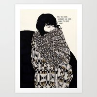 gorillaz Art Prints featuring Why You Wanted To Be ? by Kaethe Butcher