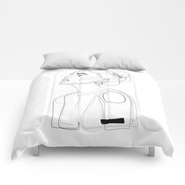 B Yellow Lip Comforters