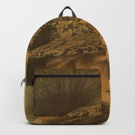Golden victorian lady Backpack