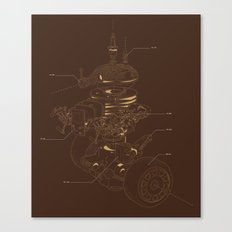 Recycling Robot Canvas Print