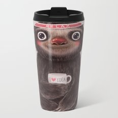 Sloth I♥yoga Metal Travel Mug