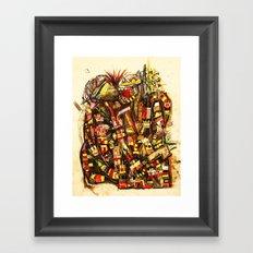 Kiss the King Framed Art Print