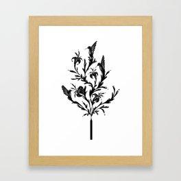 Fluid Bloom Framed Art Print