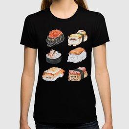Sushi Persian Cat Watercolor T-shirt