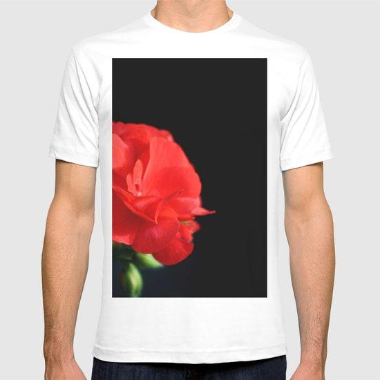 Red on black T-shirt