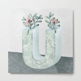 Vase U Uva Uris Metal Print
