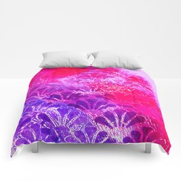 Pinky Purple Fanning Comforters