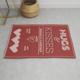 Hugs and kisses valentine poster Rug